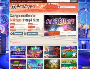 Onlinecasinot LeoVegas har blivit väldigt populärt!