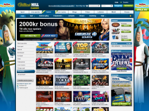 William Hill - Utbudet av skraplotter